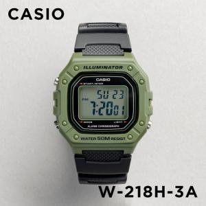 【並行輸入品】【10年保証】CASIO カシオ スタンダード W-218H-3A 腕時計 メンズ レディース キッズ 子供 男の子 女の子 チープカシオ チプカシ デジタル カーキ|timelovers