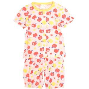 【メール便対応】 ベビーパジャマ 女の子パジャマ   お肌にやさしく肌触りが良い綿混素材  寝返りを...