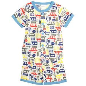 【メール便対応】 ベビーパジャマ 腹巻付きパジャマ 半袖 前開き パジャマ 子供パジャマ  お肌にや...