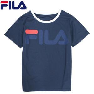 FILA(フィラ) 半袖 Tシャツ 男の子 子供 キッズ ジュニア UVカット 紫外線対策 プリント 夏物在庫処分セール|timely