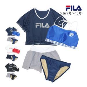 レディース 水着 フィラ FILA ビキニ 3点セット カバーアップTシャツ ショートパンツ 体型カバー セット水着 スイムウェア M L LL セール|timely