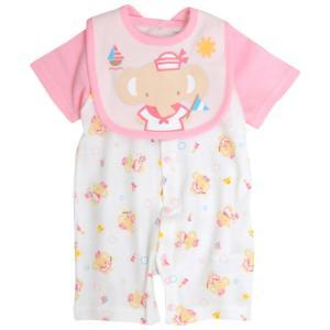 \最終999円SALE/ カバーオール ベビー 新生児 男の子 女の子 綿100% スタイ付き ロンパース 赤ちゃん 乳児用 半袖 足付き 新生児肌着 ベビー服 セール|timely