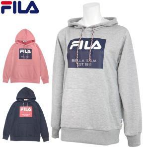 パーカー スウェット レディース ブランド FILA(フィラ) ロゴ プルオーバー 長袖 大人|timely