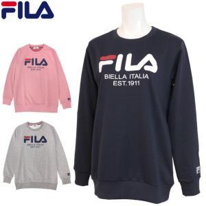 フィラ トレーナー スウェット レディース ロゴ  FILA(フィラ) クルーネック 女性 プルオーバー 長袖 大人|timely