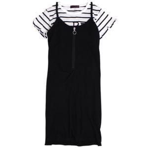 ddeba2ef4ea1c5 半袖 ワンピース 子供 ジュニア 女の子 Dolly Ribbon(ドーリーリボン) Tシャツとワンピースの2点セット 上下 セットアップ