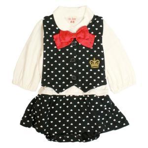 カバーオール 赤ちゃん ベビー 女の子 綿100% ベスト型スタイ付き フォーマル 長袖 ロンパース ギフト 出産祝 贈り物 ミニオール セール|timely