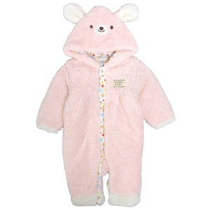 ふわもこ ベビー 着ぐるみ カバーオール 赤ちゃん フード付き おくるみ コスチューム 70cm 80cm コスプレ timely