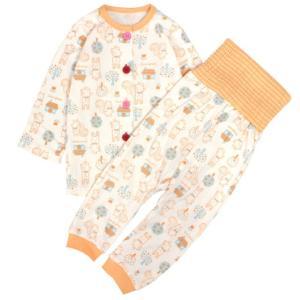 【佐川急便対応】 ベビーパジャマ 長袖パジャマ あかちゃん寝巻き   寝返りをうってもお腹は見えない...