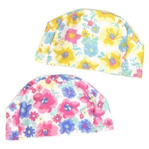 e8f9bb38f8f27 スイミングキャップ 花柄 ベビー キッズ 水泳帽 ストレッチ スイムキャップ 水泳キャップ 子供水着