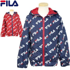 ウインドブレーカー キッズ 男の子 子供 FILA(フィラ) 裏フリース フード付き ジャンパー ジャケット|timely