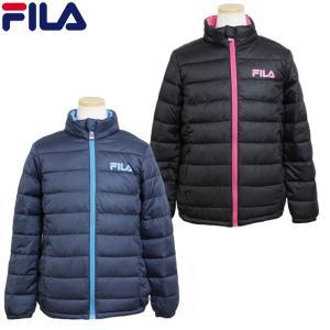 FILA フィラ ジャンパー キッズ ジュニア ファイバーダウン 女の子 ジャケット 中綿 130cm140cm150cm160cm|timely