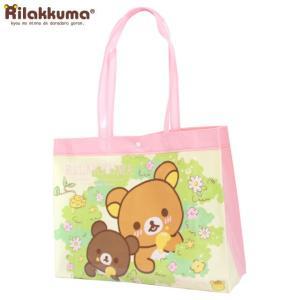 プールバッグ リラックマ(Rilakkuma) 子供 キッズ 女の子 トートバッグ ビニール ビーチバッグ スイミングバッグ|timely