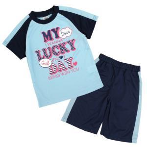 Tシャツ 子供 キッズ 女の子 半袖Tシャツとハーフパンツの上下セット スポーツウェアにも部屋着にも 薄手で涼しいティーシャツ|timely