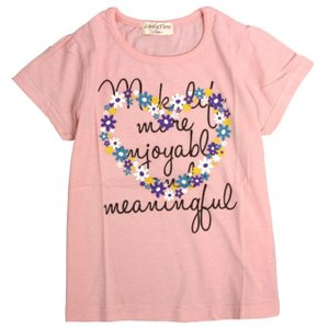 Tシャツ 子供 キッズ 女の子 プリント 半袖 ガールズ 半...