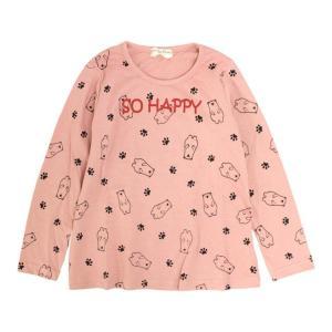\最終500円SALE/ Tシャツ 長袖 女の子 キッズ 子供 かわいい プリント 長袖Tシャツ 110cm 120cm 130cm セール|timely