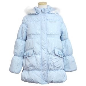 746ab4a985e4a ハーフコート 子供 ジュニア キッズ 女の子 中綿入り ジャンパー ジャケット 140cm 150cm 160cm 全2色