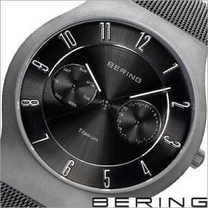 ベーリング/BERING/クオーツ/アナログ表示/マルチカレンダー/チタン/メンズ腕時計/11939-077