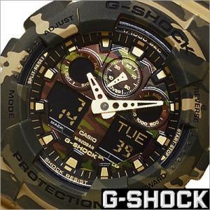 カシオ/CASIOG-SHOCK/Gショック/海外品/クオーツ/デジアナ表示/ストップウォッチ/カモフラージュ/迷彩柄/メンズ腕時計/GA-100CM-5A