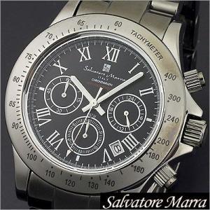 サルバトーレマーラ/Salvatore Marra/クオーツ/アナログ表示/クロノグラフ/タキメーター/メンズ腕時計/SM12117-BKR timemachine