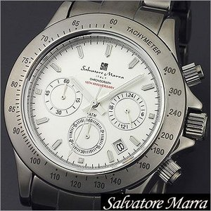 サルバトーレマーラ/Salvatore Marra/クオーツ/アナログ表示/クロノグラフ/タキメーター/メンズ腕時計/SM12117-SV timemachine
