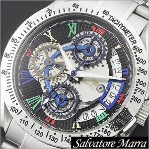 サルバトーレマーラ/Salvatore Marra/クオーツ/アナログ表示/クロノグラフ/タキメーター/メンズ腕時計/SM13108-SSBKCL timemachine