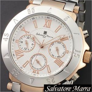 サルバトーレマーラ/Salvatore Marra/クオーツ/アナログ表示/マルチカレンダー/メンズ腕時計/SM14118-PGWH timemachine