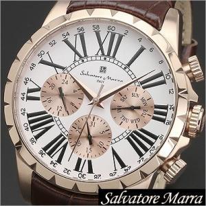 サルバトーレマーラ/Salvatore Marra/クオーツ/アナログ表示/マルチカレンダー/メンズ腕時計/SM15103-PGWH timemachine