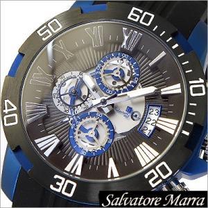 サルバトーレマーラ/Salvatore Marra/クオーツ/アナログ表示/クロノグラフ/メンズ腕時計/SM15109-BKBL timemachine