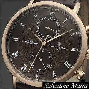 サルバトーレマーラ/Salvatore Marra/クオーツ/アナログ表示/マルチカレンダー/メンズ腕時計/SM16105-PGBR timemachine