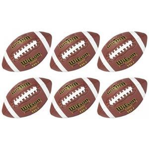 ラグビーボール(ウィルソン 6) WTF1713 TDJ ジュニア サイズ ソフト合成皮革グリップ HD ゲーム サッカー ボール 並行輸入品