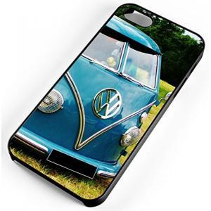 7f0390a203 フォルクスワーゲン iPhone 6 s 6 ケース クラシック青 VW バス ・ ヴァン ・ アンティーク フォルクスワーゲン 1600 cc 黒ゴム