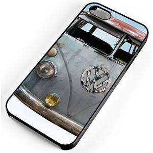 ff4f33cbb2 フォルクスワーゲン SE 5 秒 5 の iPhone ケース古典的なフォルクスワーゲン バス バン VW レトロ黒ゴム