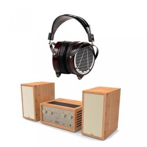 ヘッドホン オーバーイヤAUDEZE 液晶 4 参照オープン Circumaural ヘッドフォン - 真空酔っぱらったステレオ システムのアンプ/スピーカーのバンドル
