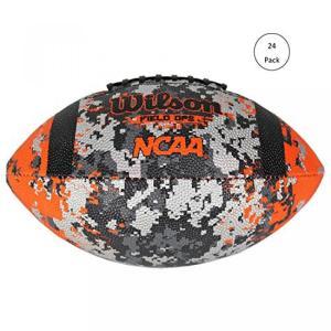 ラグビーボールウィルソン NCAA フィールド Ops サービス ジュニア サイズ アメリカン フットボールに敬礼 (24 パック) 並行輸入品