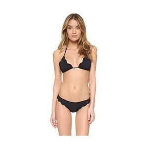 水着Marysia Swim Women's Broadway Scallop Bikini Top Black Medium