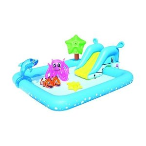 プールBestway 94 x 81 x 34-inch Fantastic Aquarium Play Pool by Bestway