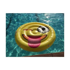 フロートI EM JI ? Emoji Pool Floats for Adults and Children ? Giant Pool Floatie ? Tongue Out Emoji Pool Toy