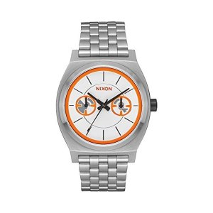 5a7a32ebc7 ニクソンNixon Unisex Time Teller Deluxe - Star Wars Collection Bb-8  Silver/Orange Watch
