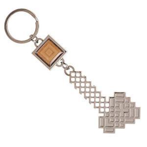 並行輸入 Minecraft キーホルダー Keychain Axe ブラック Logo 新しい 公...