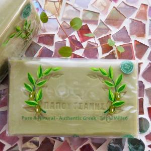 ギリシャ生まれの無添加オリーブ石鹸 パポタニス オリーブオイルソープ 125g   天然のギリシャ産...