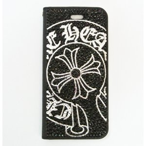 iPhone 11 ケース SWAROVSKI 手帳型 デコ クロム スワロフスキー フルデコ キラキラ|tinkerbell-azabu