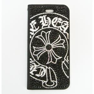 iPhone 11Pro ケース SWAROVSKI 手帳型 デコ クロム スワロフスキー フルデコ キラキラ|tinkerbell-azabu
