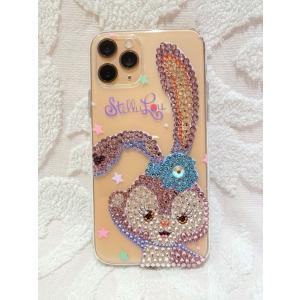 iPhone11 Pro ケース デコ ステラ・ルー シリコン スワロフスキー キラキラ プレゼント|tinkerbell-azabu