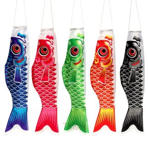 子どもの日こいのぼり鯉のぼり5色庭園ベランダ単品1m