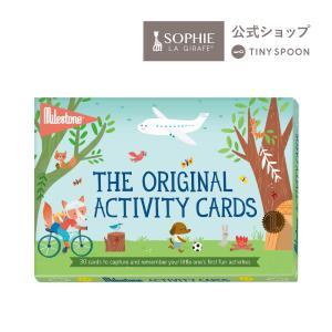 アクティビティーフォトカード マイルストーン 30枚 成長記録 カードセット 箱入り ギフト 出産祝い|tinyspoon