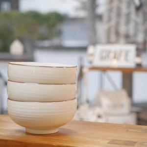 白山陶器 汁椀 白磁千段|tiogruppen