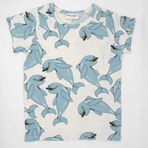 mini rodini ミニロディーニ Tシャツ DOLPIHIN AOP SS TEE イルカ柄 子供 Tシャツ メール便対応|tiogruppen