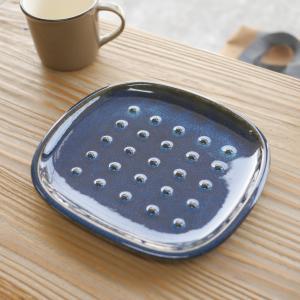 美濃焼 miyama 深山 パン皿 crust クラスト 北欧ブルー 深ブルー 日本製