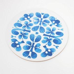 BLUES ブルー   鍋敷き スティグ・リンドベリ  Stig Lindberg Blues Pot Coaster 21cm|tiogruppen