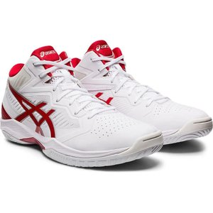 asics GELHOOP V12 【1063A021102】WHITE/CLASSIC RED tipoff